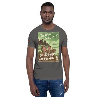 Male model wearing t-shirt
