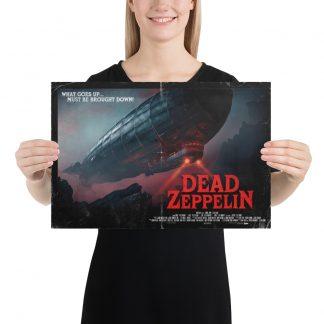 Female Model holding Dead Zeppelin small poster