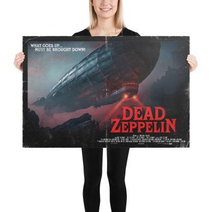 Female Model holding Dead Zeppelin large poster