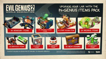 Image of Evil Genius 2 item pack downloadable content