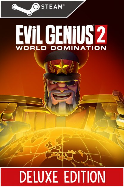 Evil Genius 2 Deluxe Edition Steam cover featuring Red Ivan