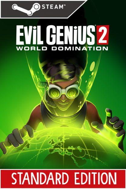 Evil Genius 2 Steam Cover art featuring Zalika