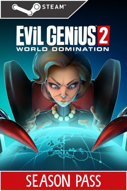 Season Pass image of Evil Genius Emma and Steam Logo