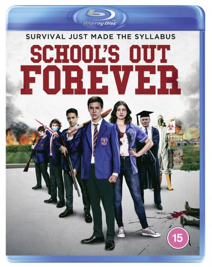 Blu Ray cover featuring School's Out Forever cast