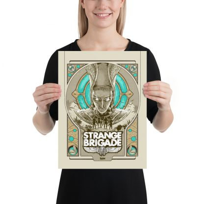 12 x 16 poster featuring key art from Strange Brigade