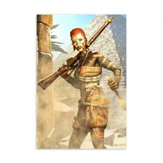 Postcard featuring Strange Brigade character Nalangu Rushida