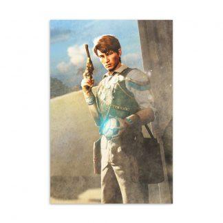 Postcard featuring Strange Brigade character Professor De Quincey