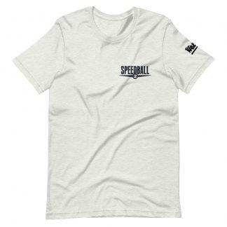 T-shirt in ash featuring Speedball 2 art