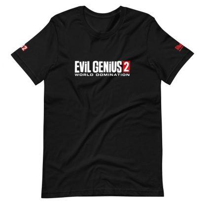 T-shirt in black featuring Evil Genius 2 Logo