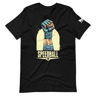 T-shirt in black featuring Speedball 2 art