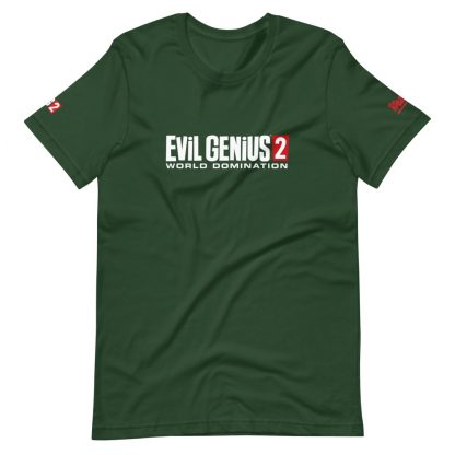 T-shirt in Forest featuring Evil Genius 2 Logo