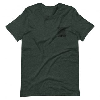 Bitmap Brothers Logo (White Print) T-shirt Heather Forest (Front)