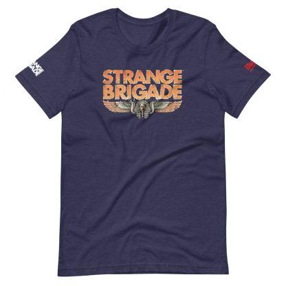 T-shirt in heather midnight navy featuring Strange Brigade logo