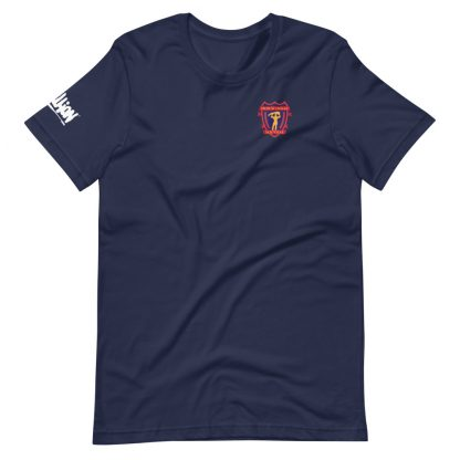 T-shirt in navy of School's Out Forever cast and crew