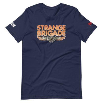 T-shirt in navy of Strange Brigade logo