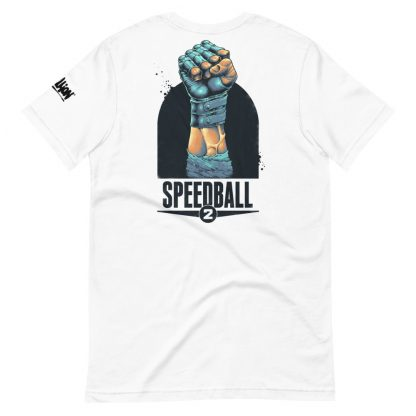 T-shirt in white featuring Speedball 2 art