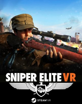 Game cover of Sniper Elite VR (Steam) featuring protagonist with sniper rifle
