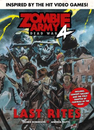 Cover art for Zombie Army 4 Graphic Novel featuring deadhunters with zombies in background