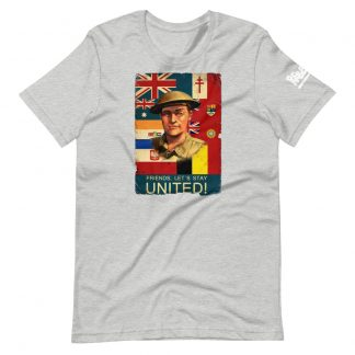 T-shirt in black featuring a propaganda poster from Sniper Elite 3
