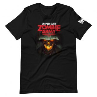 T-shirt in black featuring Zombie Army 1 artwork