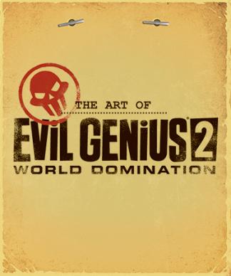 Title cover of Evil Genius 2 Artbook in style of secret document folder