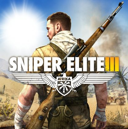 Box Art for Sniper Elite 3 featuring Karl Fairburne in Africa