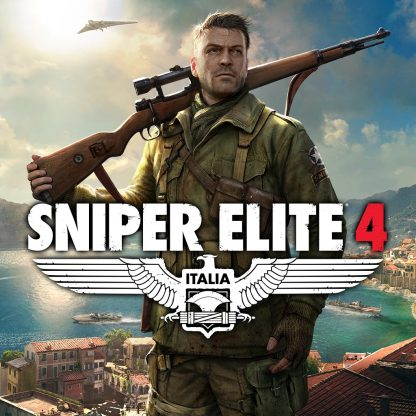 Box Art for Sniper Elite 4 featuring Karl Fairburne in 1943 Italy