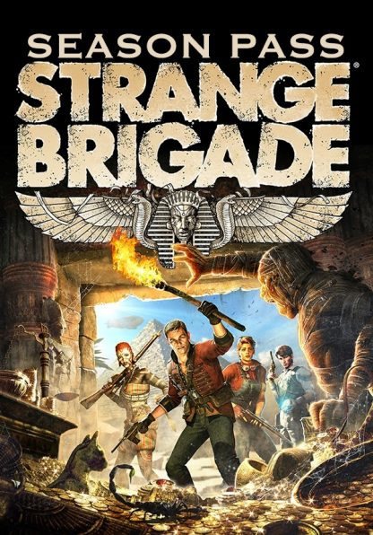 Box Art of Strange Brigade Season Pass featuring the four main characters inside a pyramid