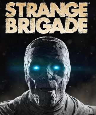 Box Art of Strange Brigade Standard Edition featuring mummified monster with blue eyes